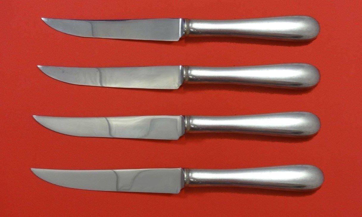 "Hannah Hull by Tuttle Sterling Silver Steak Knife Set 4pc HHWS  Custom 8 1/2"""