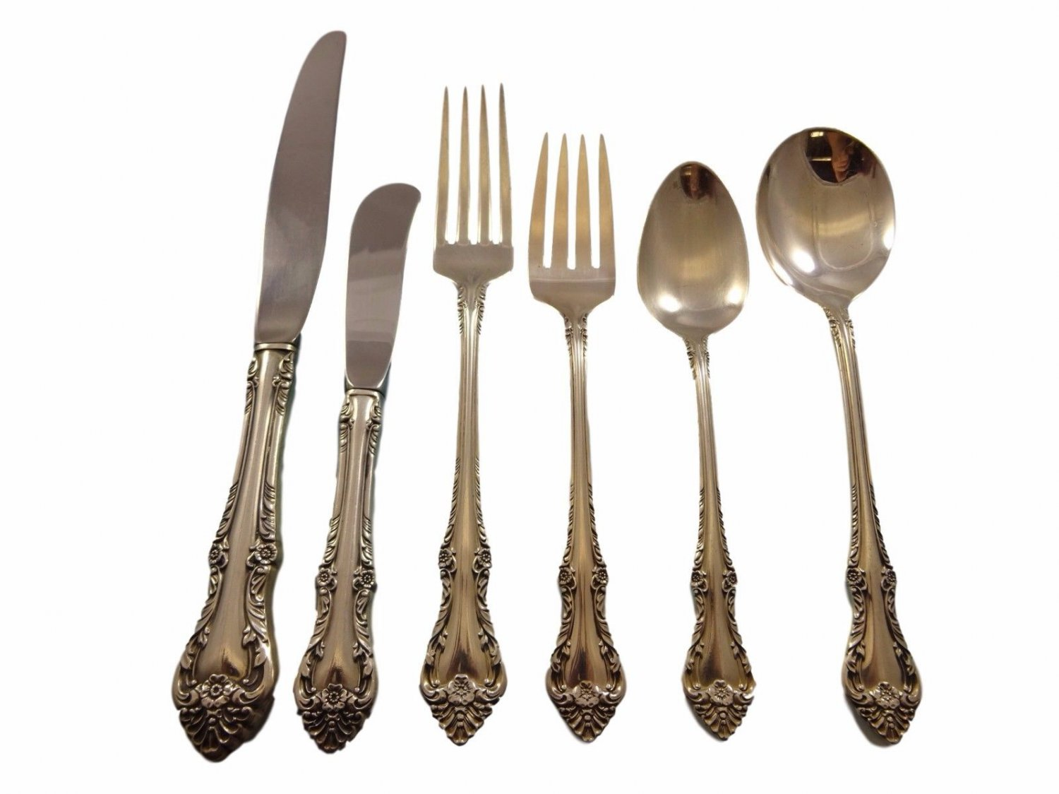 Melbourne by Oneida Sterling Silver Flatware Service For 12 Set 76 Pieces