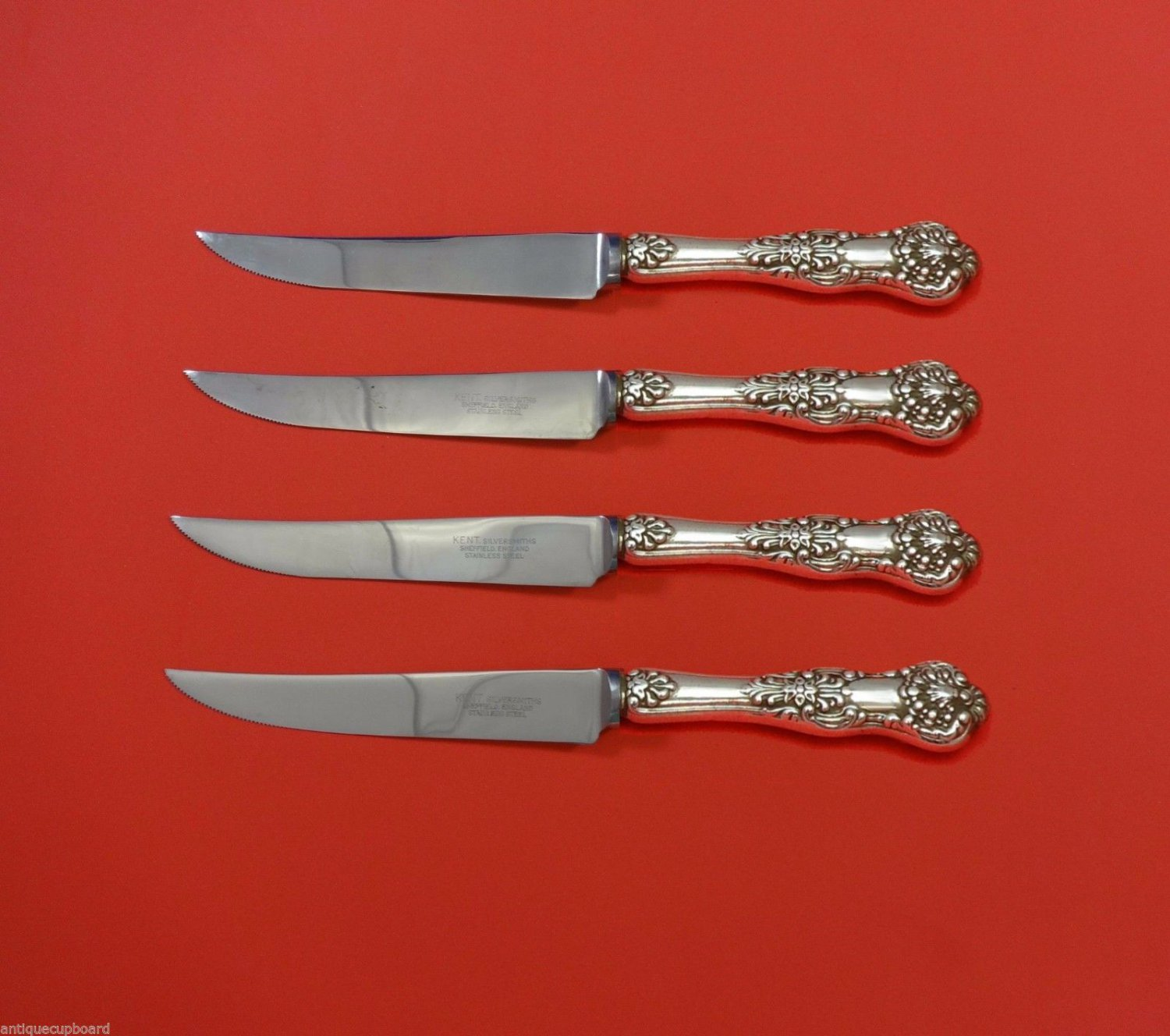 New King by Dominick & Haff Sterling Silver Steak Knife Set 4pc HHWS  Custom