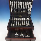 Rose by Stieff Sterling Silver Flatware Set For 12 Service 64 Pieces Repousse