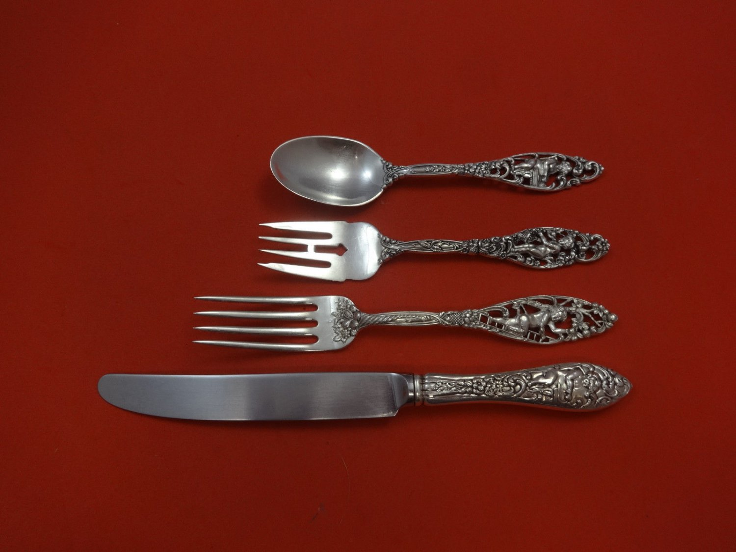 Labors of Cupid by Dominick & Haff Sterling Silver Regular Size Setting(s) 4pc