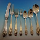 Mount Vernon by Lunt Sterling Silver Flatware Set For 8 Service 56 Pieces