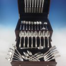 Chateau by Lunt Sterling Silver Flatware Service For 8 Set 65 Pieces K Monogram