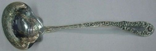 Number 10 Ten by Dominick & Haff Sterling Silver Soup Ladle w/Flowers 10 1/2""