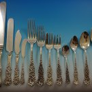 Rococo by D&H Sterling Silver Flatware Set For 12 Service 154 Pcs Dinner
