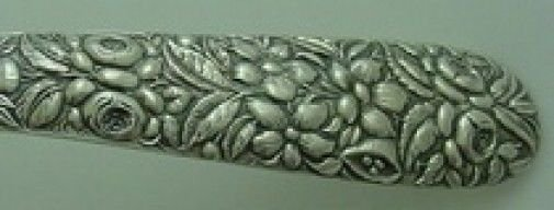 """Repousse by Hennegan & Bates Sterling Silver Melon Spoon 5 7/8"""""""