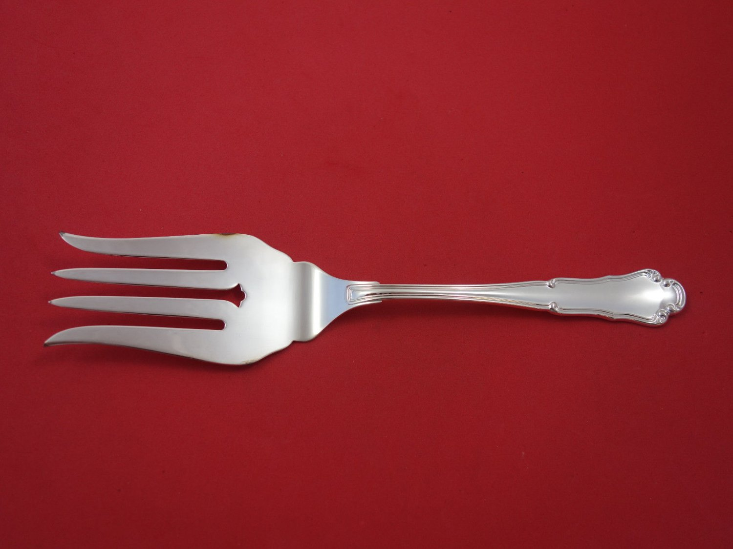 """Barocco By Zaramella Argenti Sterling Fish Serving Fork 9 1/2"""" New, Never Used"""