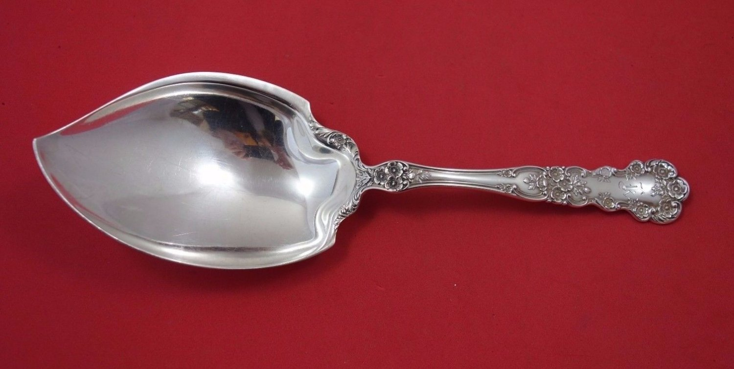 "Buttercup by Gorham Sterling Silver Vegetable Serving Spoon 9 1/2"" Rare"