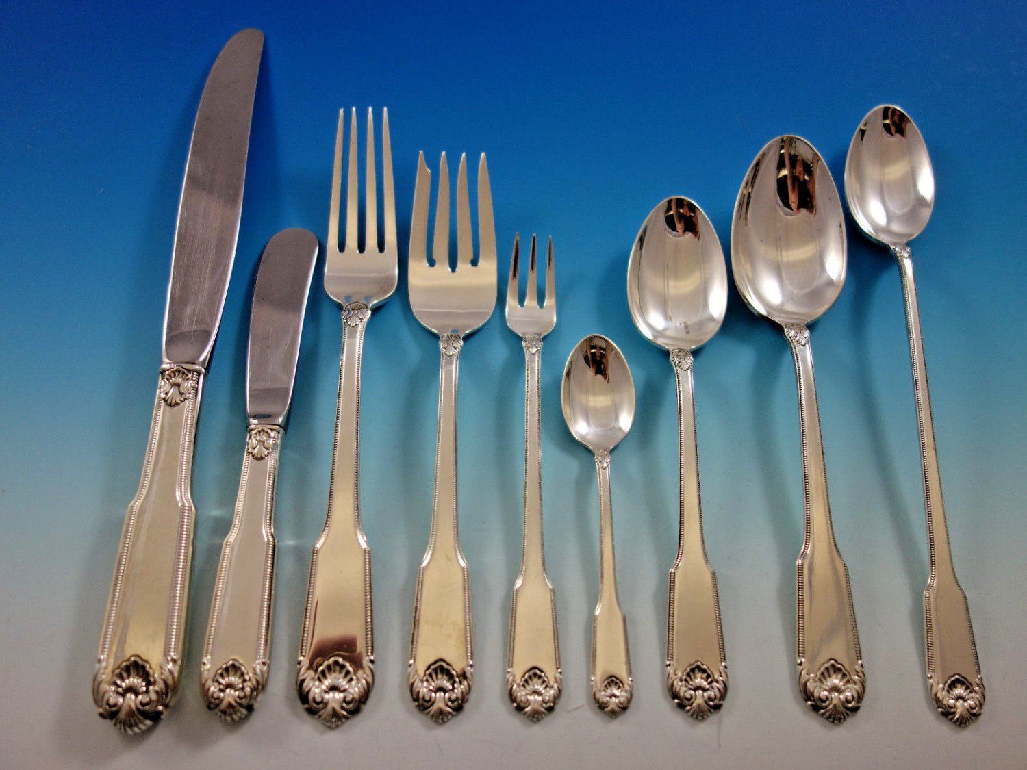 Whitehall by International Sterling Silver Flatware Set for 8 Service 78 pieces