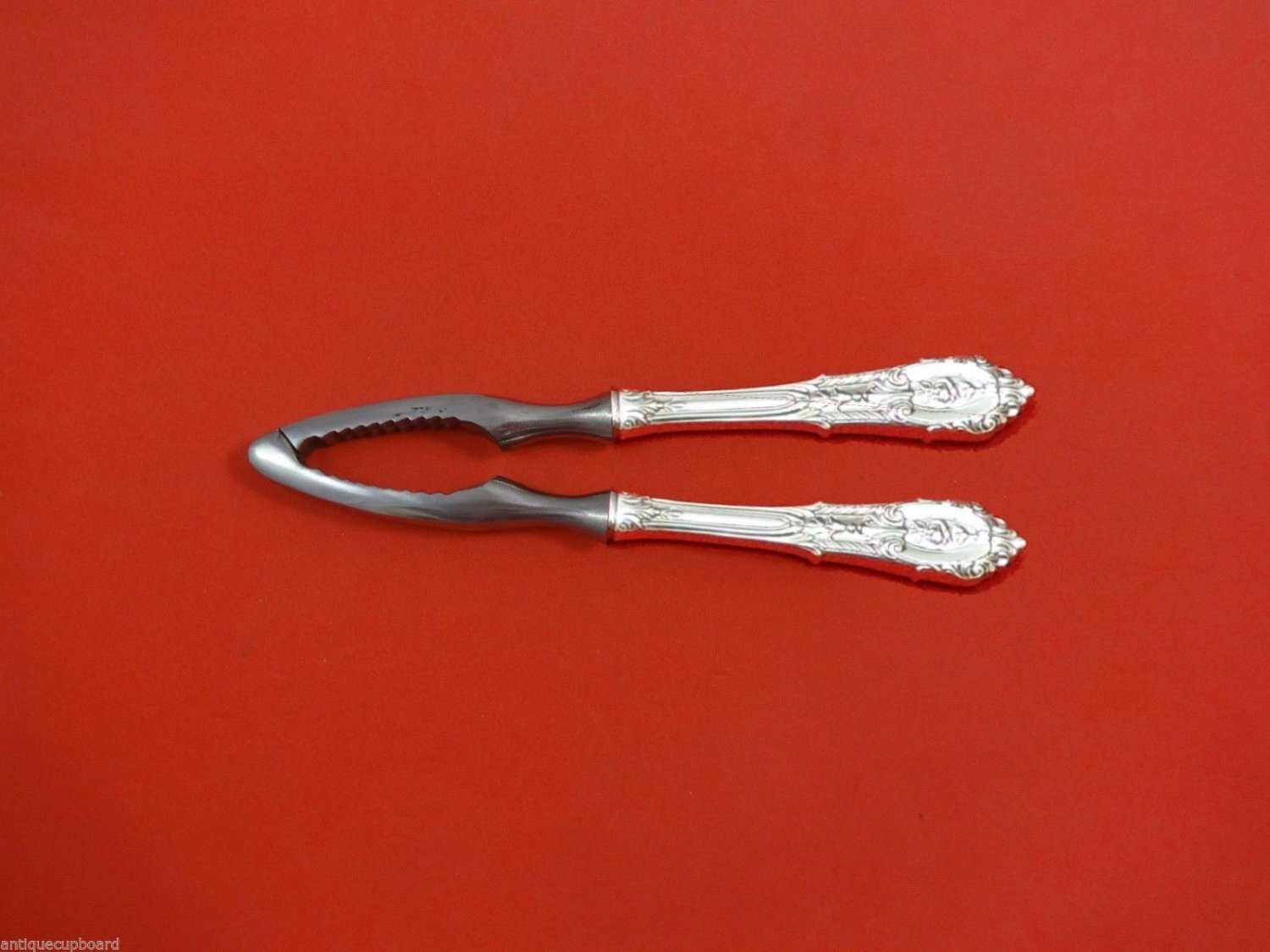 Rose Point by Wallace Sterling Silver Nut Cracker HHWS  Custom Made 7 1/4""