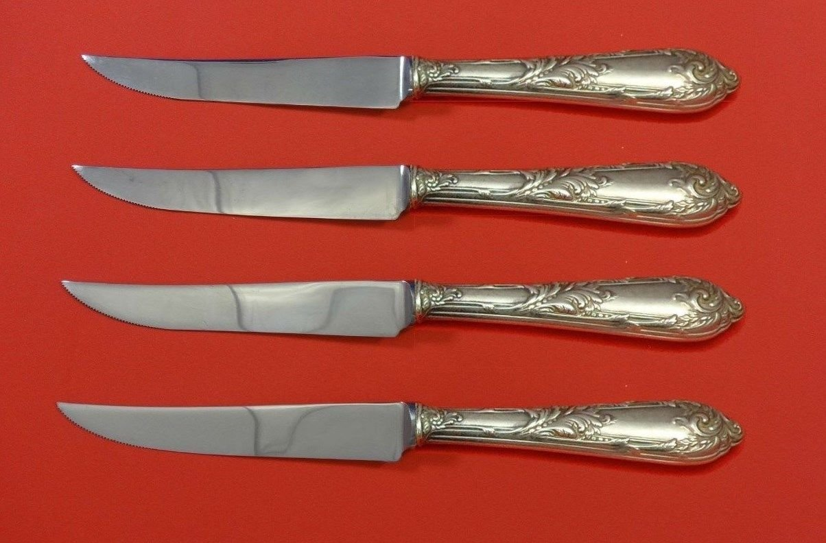 Romaine by Reed & Barton Sterling Silver Steak Knife Set 4pc HHWS  Custom 8 1/2""