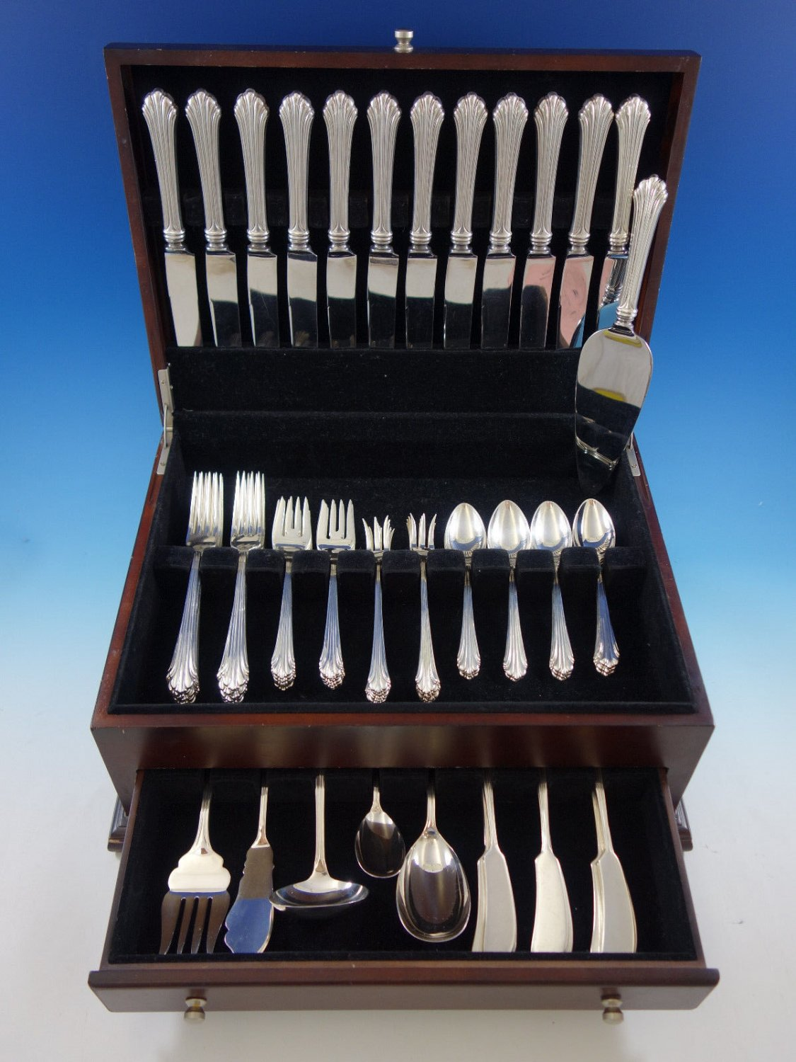 Homewood by Stieff Sterling Silver Flatware Set for 12 Service 78 pcs Dinner