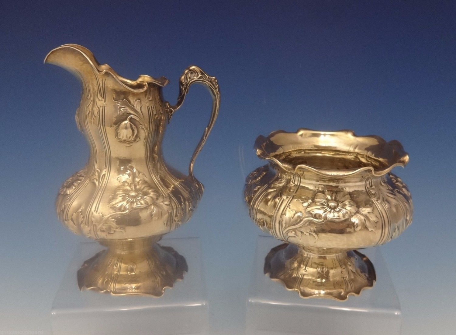 Black, Starr & Frost Sterling Silver Sugar and Creamer 2pc Art Nouveau (#0306)