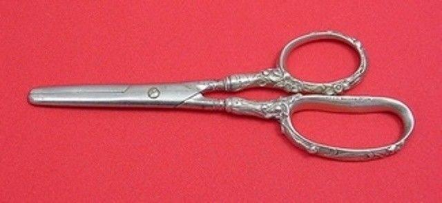 "H 166 by Gorham Sterling Silver Scissors Art Nouveau / Narcissus 6 3/8"""