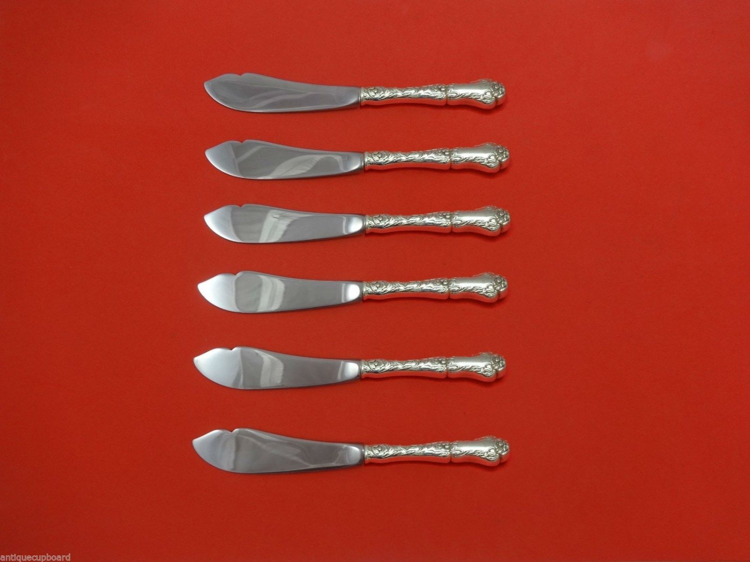 """Poppy by Gorham Sterling Silver Trout Knife Set 6pc. HHWS  Custom Made 7 1/2"""""""