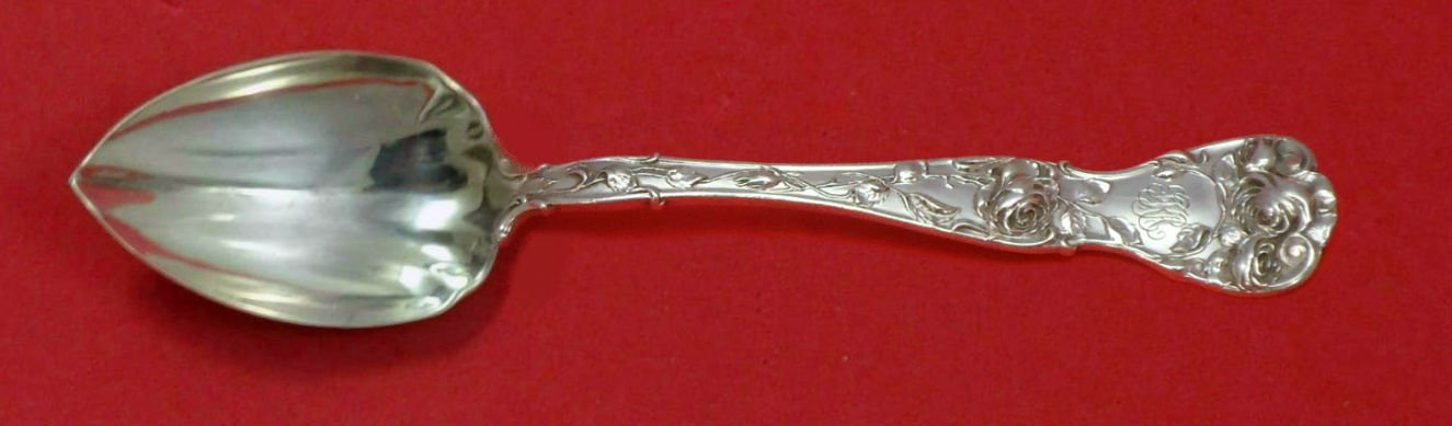 American Beauty by Shiebler Sterling Silver Grapefruit Spoon Fluted Custom 5 3/4