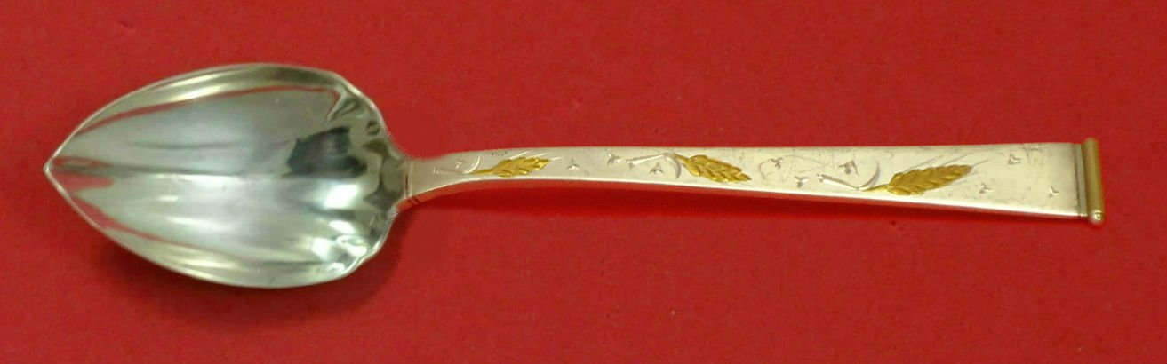 Golden Wheat by Gorham Sterling Silver Grapefruit Spoon Fluted Custom 5 3/4""