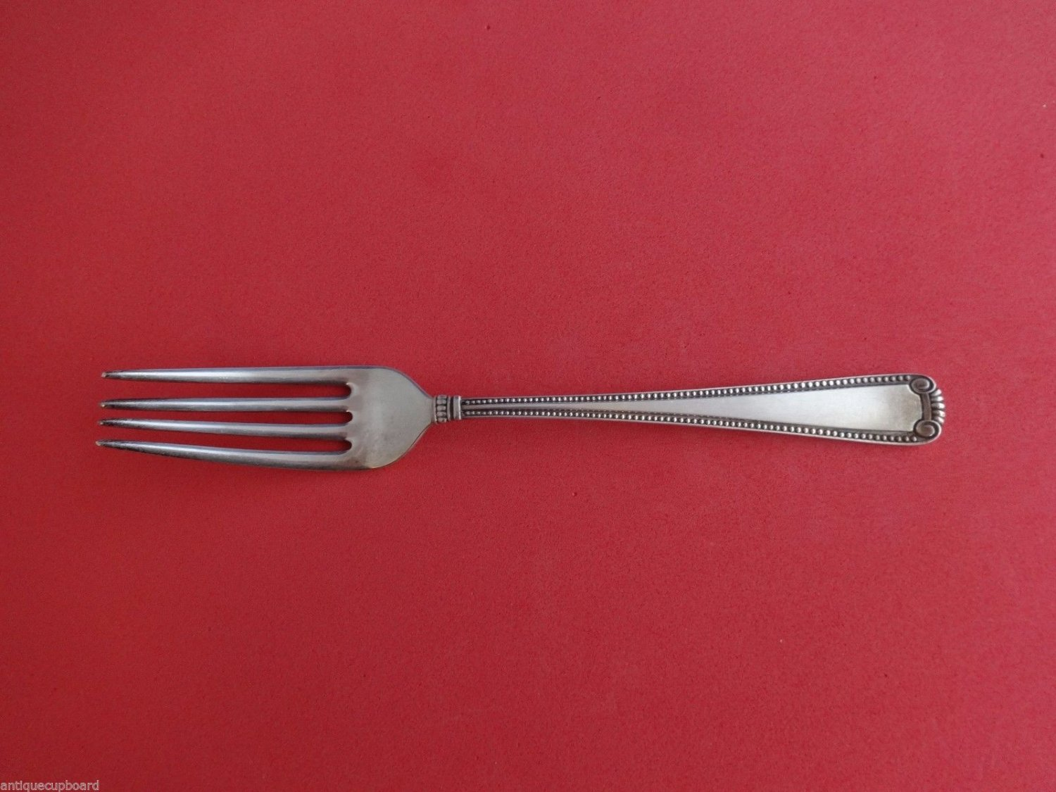 """Scroll & Bead by Cartier Sterling Silver Dinner Fork 7 3/4"""""""