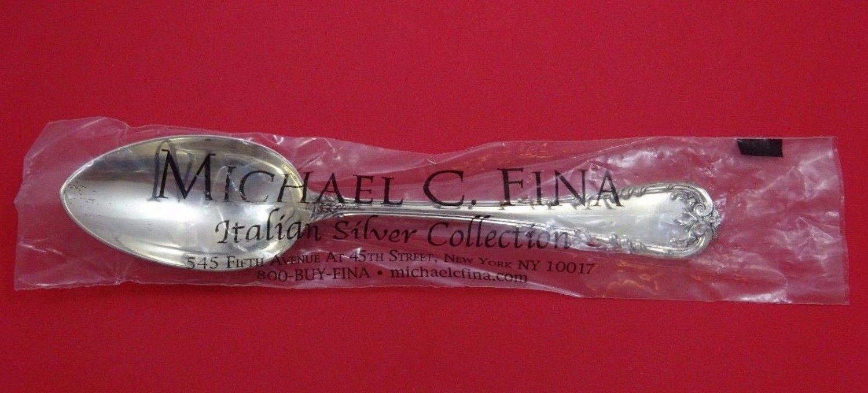 "Fleuri by Cassetti Italian Sterling Silver Vegetable Serving Spoon 9 3/4"" New"