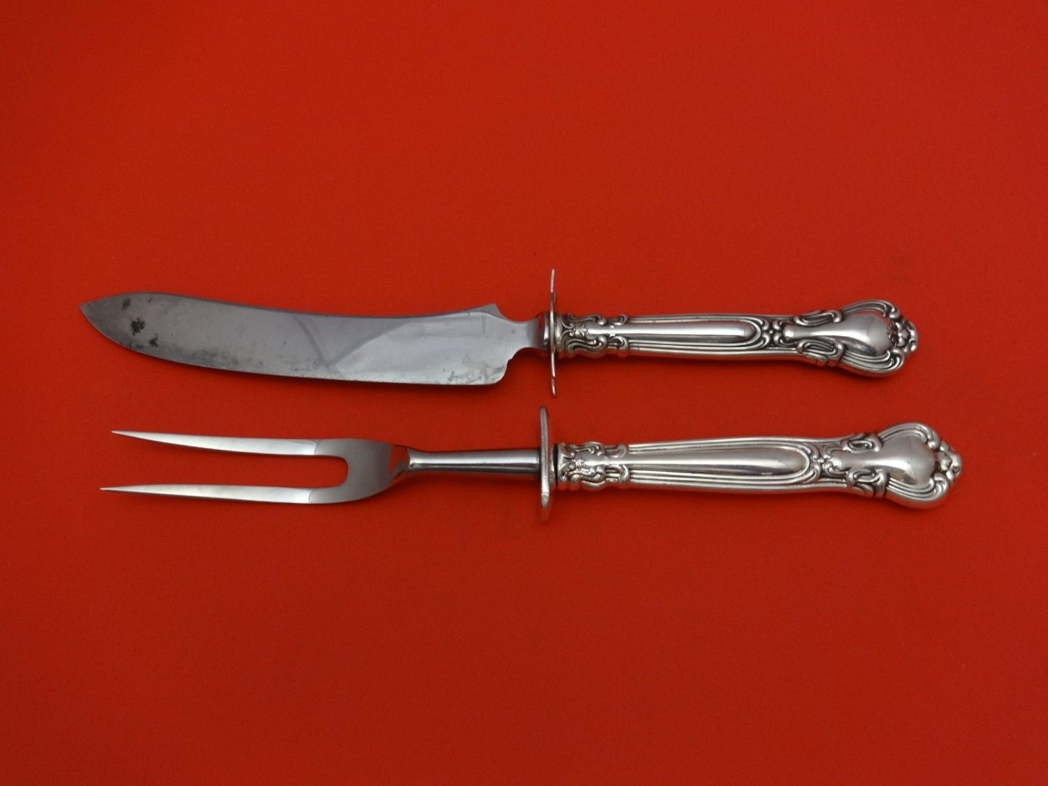 """Chantilly by Gorham Sterling Silver Steak Carving Set 2pc HHWS  (Knife 9 1/2"""")"""
