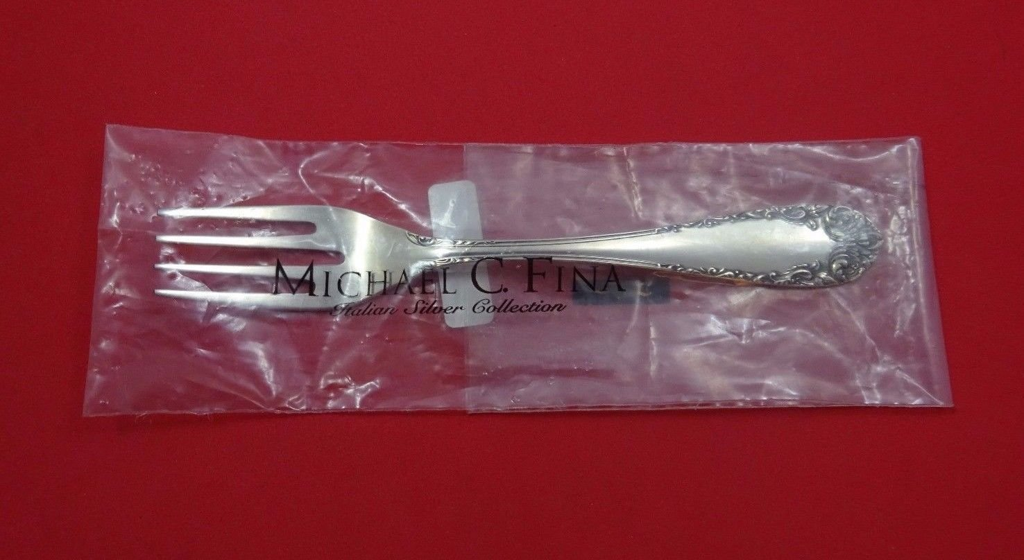 """Rococo by Calegaro Italy Sterling Silver Salad Fork 7 1/4"""" (Retail $170) New"""
