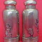 """Mixed Metals by Gorham Sterling Silver Salt and Pepper Shaker Pair 3 1/4"""""""
