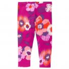 NWT Crazy 8 Girls Pink Floral Leggings Size 3T