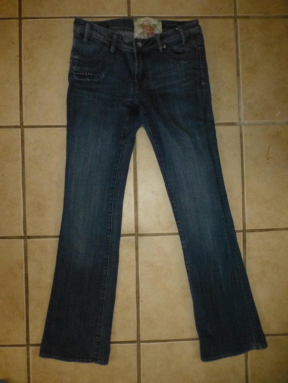 New London Junior Womens Blue Denim Boot Cut Jeans Size 27 3/4