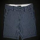 NWT European Cubus Boys Plaid Blue Adjustable Waist Shorts 5