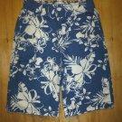 NWT The Children's Place Boys Blue Hawaiian Hibiscus Adjustable Waist Shorts 6