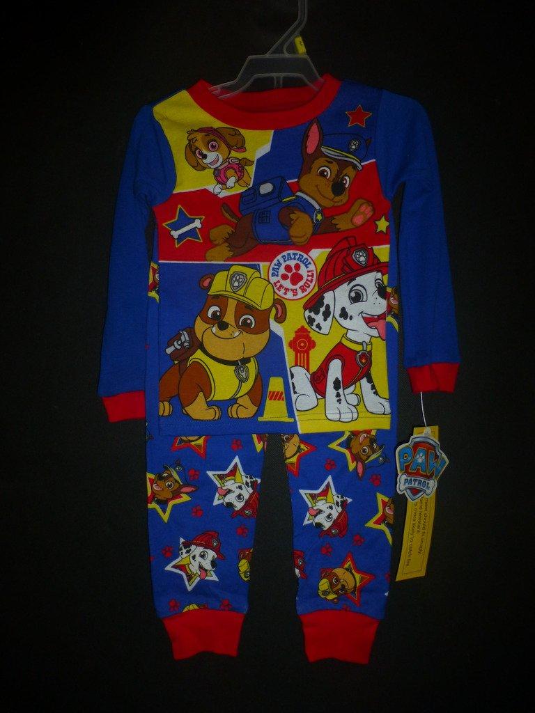 NWT Paw Patrol Toddler Boys 2 Pc Blue Cotton Pajamas Set 3T