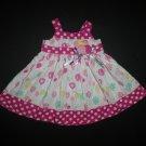Wonderkids Baby Girls White Pink Sleeveless Birthday Balloons Dress 12 Months