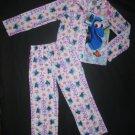 NWT Disney Finding Dory Girls 2 Pc Fleece Button Down Pajamas Set Size 7/8