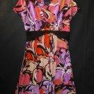 Scarlett Womens Floral Short Sleeve Dress Size 12