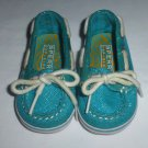 Sperry Top-Sider Baby Girls Turquoise Sparkle Boat Shoes Size 2