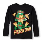 NWT Nickelodeon Teenage Mutant Ninja Turtles Boys Black Long Sleeve Shirt XS 4