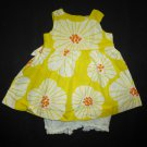Carters Baby Girl Yellow Floral Sleeveless Dress & Bloomers 3 Months Easter