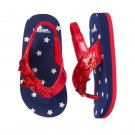 NWT Gymboree Red White & Cute 4th of July Toddler Girls Flip Flop Sandals 7-8