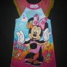 Disney Minnie Mouse Pink Hula Hawaii Girls Night Gown 4T