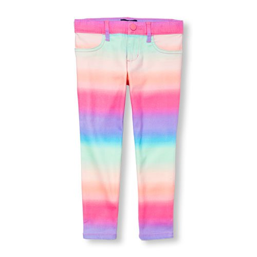 NWT The Children's Place Girls Rainbow Dye Jeggings Pants Size 5