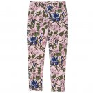 NWT Crazy 8 Girls Pink Floral Leggings Medium 7-8