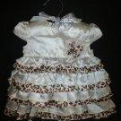 NWT FAO Schwartz Baby Girl Animal Print Ruffle Dress 3 M Easter
