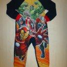 Marvel Avengers Boys Fleece Sleeper Blanket Pajamas Size XS 4/5