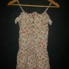 Full Tilt Womens Beige Floral Sleeveless Rayon Ruffle Romper Sunsuit XS