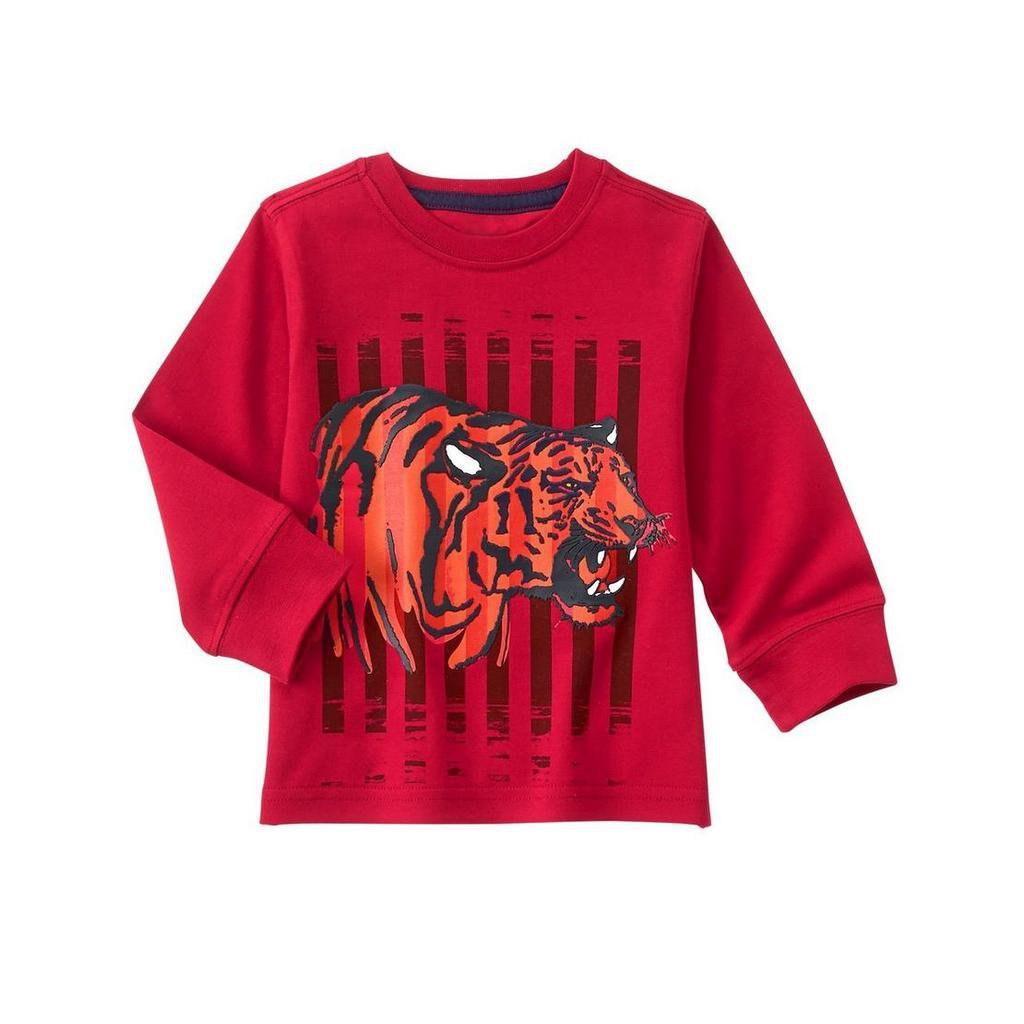 NWT Gymboree Mix N Match Tiger Baby Boy Red Long Sleeve Shirt 2T