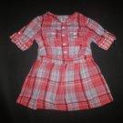OshKosh Baby Girls Red Plaid Short Sleeve 4th of July Dress 12 Months