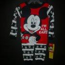 NWT Disney Mickey Mouse Toddler Boys 2 Pc Red Cotton Pajamas Set 3T