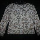 Gymboree Right Meow Animal Tiger Print Girls Rayon Shirt Blouse Size 8