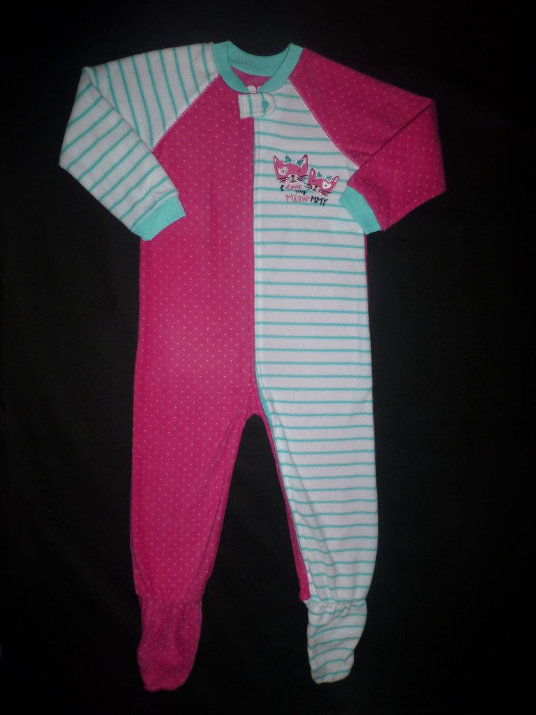 NWT The Children's Place Girls I Love Mommy Footed Fleece Sleeper Pajamas 5T