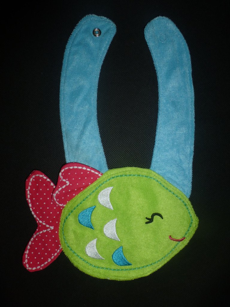 NEW Carter's Green Fish Baby Girl Terry Cloth Teething Drool Bib